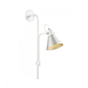 Настенный светильник с регулировкой направления света Lumion Ollie 3788/1W, белый, серебро, металл