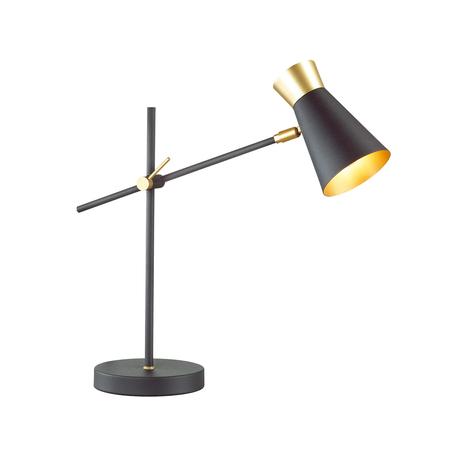 Настольная лампа Lumion Liam 3790/1T, матовое золото, черный, металл