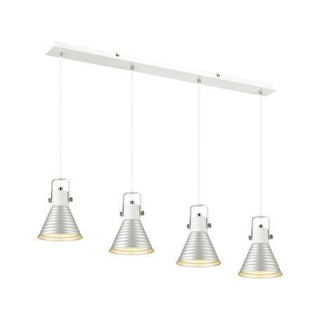 Подвесной светильник Lumion Moderni Ollie 3788/4, 4xE14x40W, белый, серебро, металл
