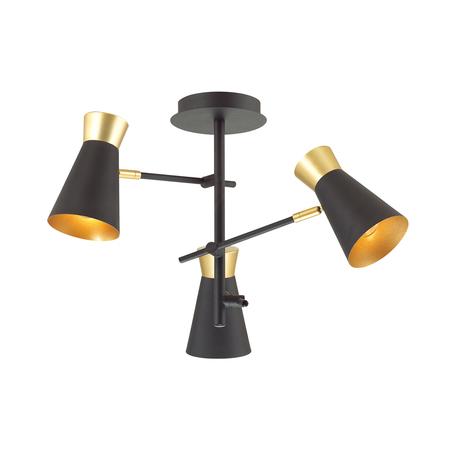 Потолочная люстра с регулировкой направления света Lumion Lofti Liam 3790/3C, 3xE14x40W, черный, металл