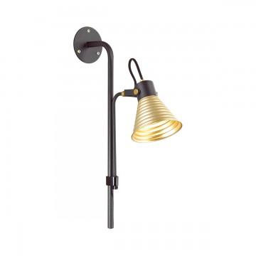 Настенный светильник с регулировкой направления света Lumion Ollie 3787/1W, черный, матовое золото, металл