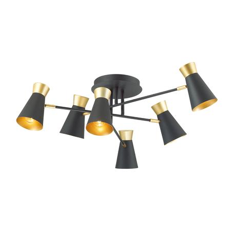 Потолочная люстра с регулировкой направления света Lumion Lofti Liam 3790/6C, 6xE14x40W, черный, металл