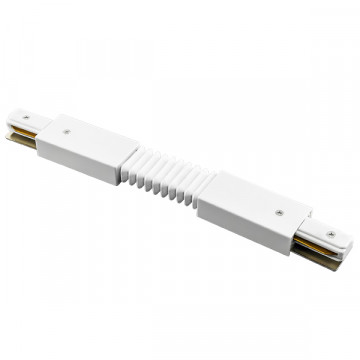 Гибкий соединитель для шинопровода Lightstar Barra 502156, белый, пластик