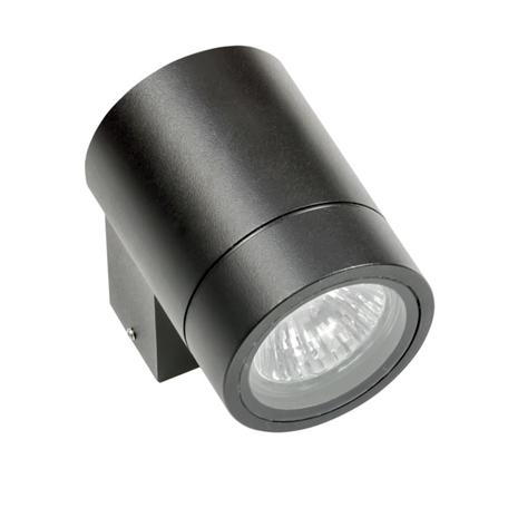Настенный светильник Lightstar Paro 350607, IP65, 1xGU10x50W, черный, металл