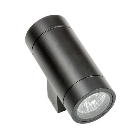 Настенный светильник Lightstar Paro 351607, IP65, 2xGU10x50W, черный, металл