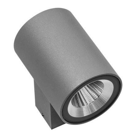 Настенный светодиодный светильник Lightstar Paro 351694, IP65, LED 12W 4000K 960lm, серый, металл