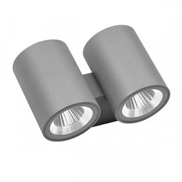 Настенный светодиодный светильник Lightstar Paro 352694, IP65, LED 24W 4000K 1920lm, серый, металл