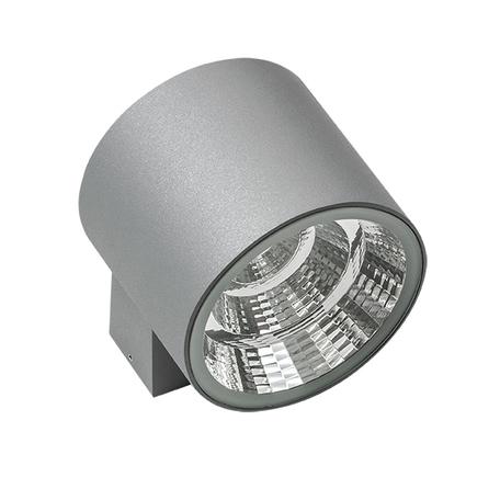 Настенный светодиодный светильник Lightstar Paro 370594, IP65, LED 20W 4000K 1590lm, серый, металл