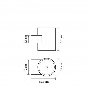 Схема с размерами Lightstar 371594