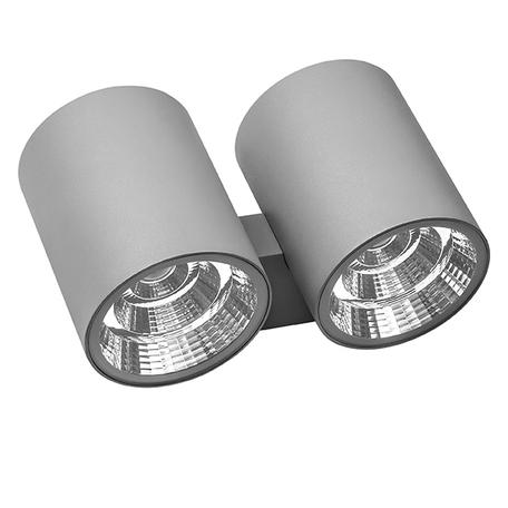 Настенный светодиодный светильник Lightstar Paro 372592, IP65, LED 60W 3000K 4700lm, серый, металл