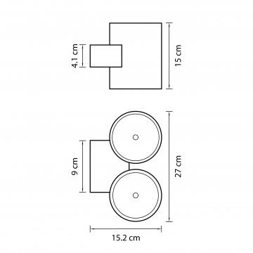 Схема с размерами Lightstar 372674