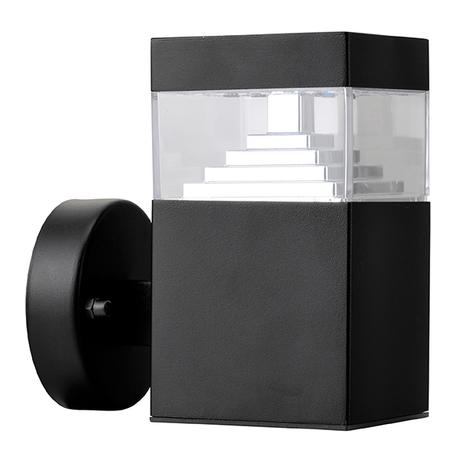 Настенный светодиодный светильник Lightstar Raggio 377617, IP55, LED 6W 4000K 300lm, черный, металл, металл с пластиком