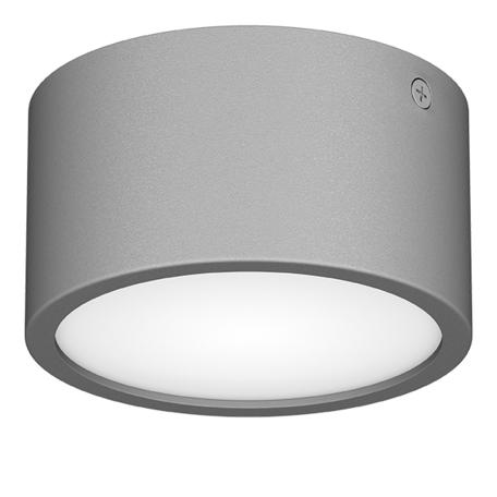 Потолочный светодиодный светильник Lightstar Zolla 380193, IP65, LED 8W 3000K 640lm, серый, металл с пластиком