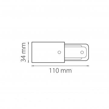 Схема с размерами Lightstar 502117