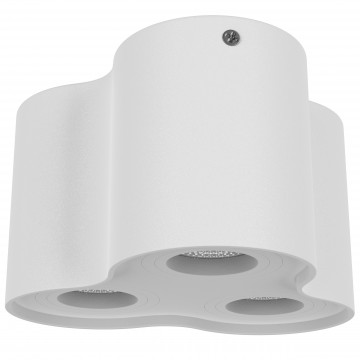 Потолочный светильник Lightstar Binoco 052036, 3xGU10x50W, белый, металл