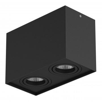 Потолочный светильник Lightstar Rettango 052087, 2xGU10x50W, черный, металл