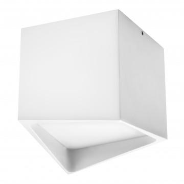 Потолочный светодиодный светильник Lightstar Quadro 211476, IP55, 3000K (теплый), белый, металл, пластик