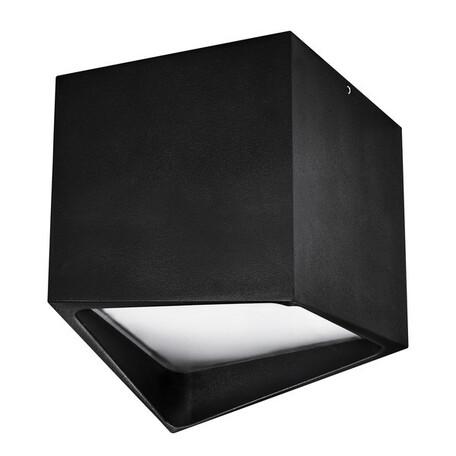 Потолочный светодиодный светильник Lightstar Quadro 211477, IP55, LED 12W 3000K 960lm, черный, металл