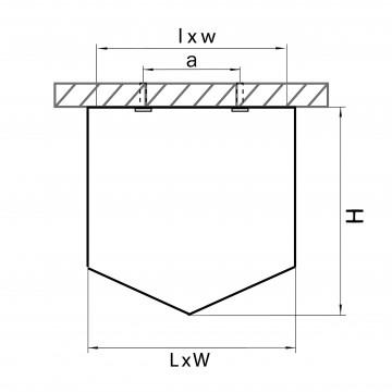 Схема с размерами Lightstar 211479