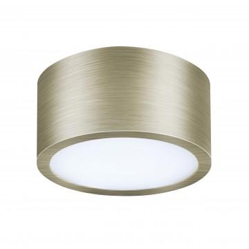 Потолочный светодиодный светильник Lightstar Zolla 211911, IP44, LED 10W, 3000K (теплый), белый, бронза, металл, пластик