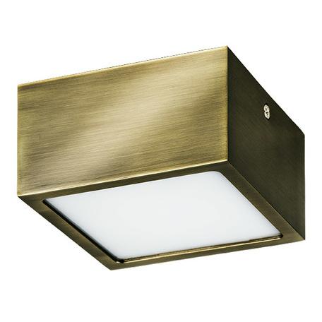 Потолочный светодиодный светильник Lightstar Zolla 211921, IP44 3000K (теплый), белый, бронза, металл, пластик