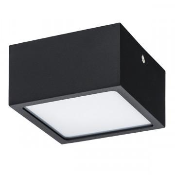 Потолочный светодиодный светильник Lightstar Zolla 211927, IP44, LED 10W 3000K 780lm, черный, черно-белый, металл