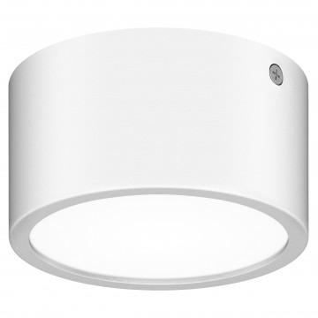 Потолочный светодиодный светильник Lightstar Zolla 380163, IP65, LED 8W 3000K 640lm, белый, металл со стеклом/пластиком