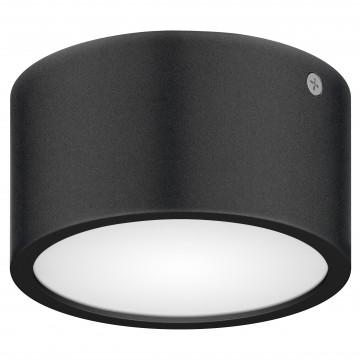 Потолочный светодиодный светильник Lightstar Zolla 380173, IP65, LED 8W 3000K 640lm, черный, черно-белый, металл со стеклом/пластиком