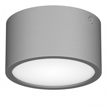 Потолочный светодиодный светильник Lightstar Zolla 380194, IP65, LED 8W 4000K 640lm, серый, металл со стеклом/пластиком