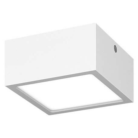 Потолочный светодиодный светильник Lightstar Zolla 380263, IP65, LED 8W 3000K 640lm, белый, металл со стеклом/пластиком