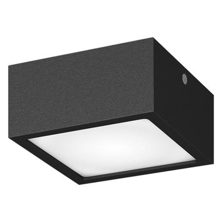 Потолочный светодиодный светильник Lightstar Zolla 380273, IP65, LED 8W 3000K 640lm, черный, черно-белый, металл со стеклом/пластиком