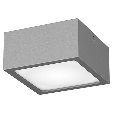 Потолочный светодиодный светильник Lightstar Zolla 380293, IP65, LED 8W 3000K 640lm, серый, металл со стеклом/пластиком