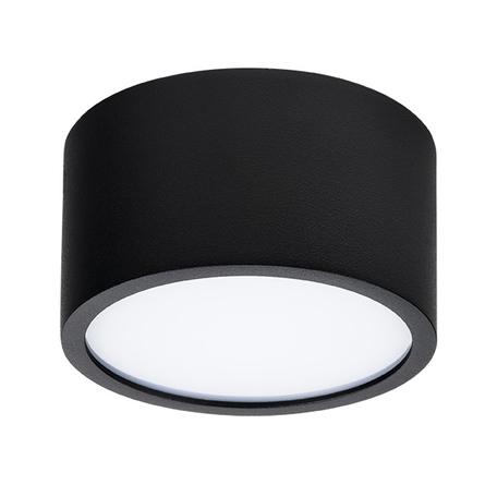 Потолочный светодиодный светильник Lightstar Zolla 211917, IP44, LED 10W 3000K 780lm, черный, черно-белый, металл