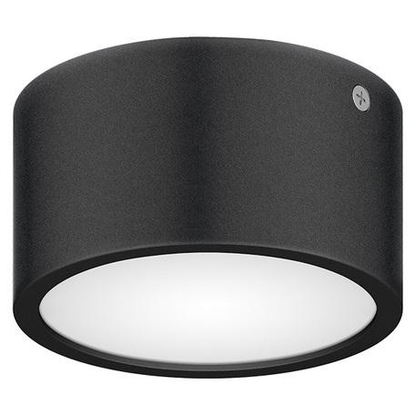 Потолочный светодиодный светильник Lightstar Zolla 380173, IP65, LED 8W 3000K 640lm, черный, черно-белый, металл с пластиком