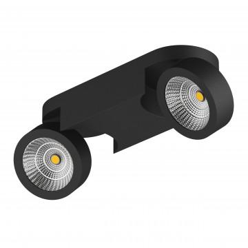 Потолочный светодиодный светильник с регулировкой направления света Lightstar Snodo 055274, 4000K (дневной), черный, металл