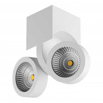 Потолочный светодиодный светильник с регулировкой направления света Lightstar Snodo 055363, 3000K (теплый), белый, металл