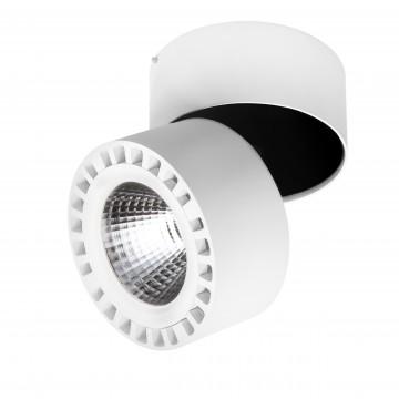 Потолочный светодиодный светильник с регулировкой направления света Lightstar Forte 381364, IP65, 4000K (дневной), белый, металл