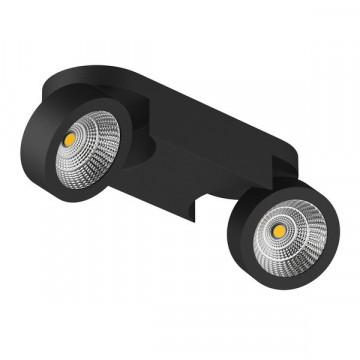 Потолочный светодиодный светильник с регулировкой направления света Lightstar Snodo 055274, LED 20W 4000K 1960lm, черный, металл