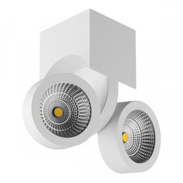 Потолочный светодиодный светильник с регулировкой направления света Lightstar Snodo 055363, LED 20W 3000K 1960lm, белый, металл