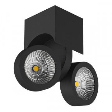 Потолочный светодиодный светильник с регулировкой направления света Lightstar Snodo 055374, LED 20W 4000K 1960lm, черный, металл