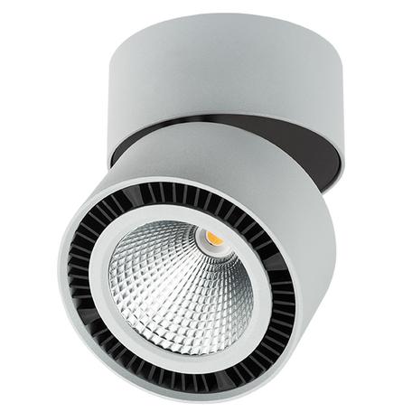Потолочный светодиодный светильник с регулировкой направления света Lightstar Forte Muro 213859, LED 40W 3000K 3400lm, серый, металл