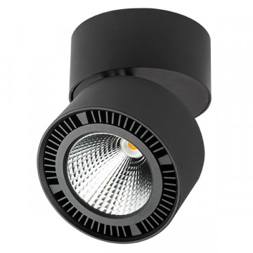 Потолочный светодиодный светильник Lightstar Forte Muro 214857, LED 40W 4000K 3400lm, черный, металл