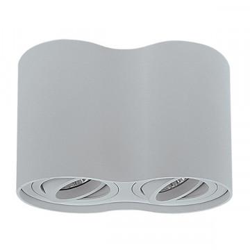 Потолочный светильник Lightstar Binoco 052029, 2xGU10x50W, серый, металл