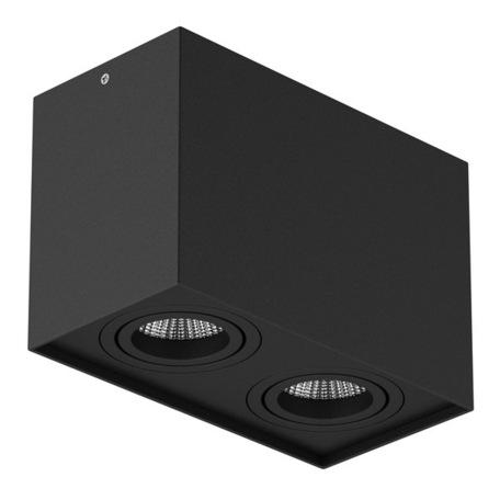 Потолочный светильник Lightstar Rettango 052087, 2xGU10x50W, черный, металл - миниатюра 1