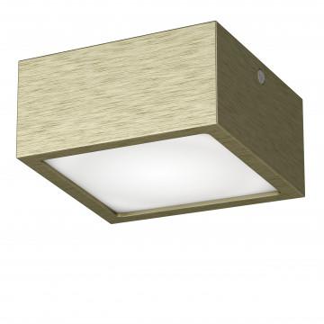 Потолочный светодиодный светильник Lightstar Zolla 211921, IP44, LED 10W 3000K 780lm, бронза, металл