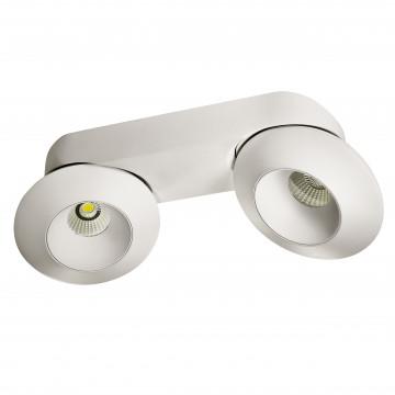 Потолочный светодиодный светильник с регулировкой направления света Lightstar Orbe 051326, LED 32W 3000K 2480lm, белый, металл