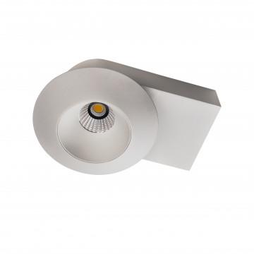 Потолочный светодиодный светильник с регулировкой направления света Lightstar Orbe 051316, LED 15W 3000K 1240lm, белый, металл