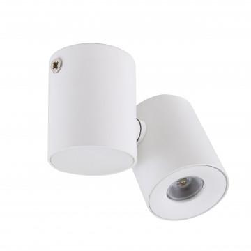 Потолочный светодиодный светильник с регулировкой направления света Lightstar Punto 051136, IP40, LED 3W 3000K 190lm, белый, металл