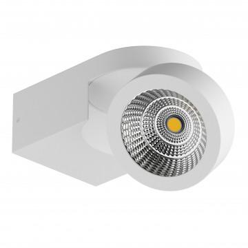 Потолочный светодиодный светильник с регулировкой направления света Lightstar Snodo 055163, LED 10W 3000K 980lm, белый, металл