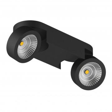Потолочный светодиодный светильник с регулировкой направления света Lightstar Snodo 055273, LED 20W 3000K 1960lm, черный, металл
